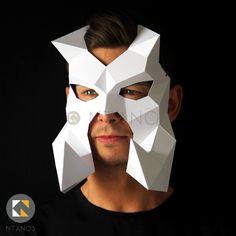 Bewilderbeast Dragon Papercraft Mask by Ntanos Awesome Masks, Cool Masks, Dragon Mask, Warrior Helmet, Paper Mask, 3d Paper Crafts, Animal Masks, Halloween Masks, Mask Design