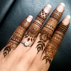 Eid festival is incomplete without mehndi. Finger mehndi designs add more charm to your beauty hands attractive. Dulhan Mehndi Designs, Mehandi Designs, Finger Mehendi Designs, Khafif Mehndi Design, Mehndi Designs For Fingers, Mehndi Design Pictures, Beautiful Mehndi Design, Mehndi Fingers, Mehndi Images