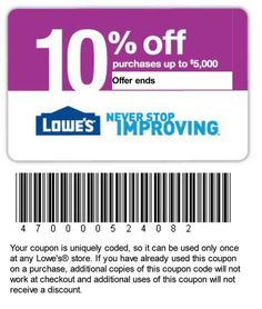 Lowes Coupons Free Printable Cards Printables Home Improvements