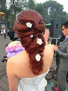 This is great formal hair for her...
