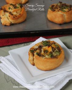 Savory Sausage Breakfast Rolls-easy to make and a great change up from the usual sweet roll. #recipe