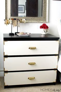 IKEA Malm Dresser Makeover- Campaign Style #ikeahack