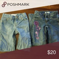 Girls pants No rips no stains pants on left are 6 slim and pants on right are 6 flair Bottoms Jeans