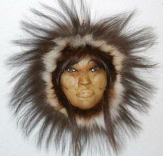 Inupiaq skin face by Kathy Ward of Kotzebue.