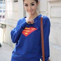 Fashion Superman Long Sleeve T-shirt: tidestore.com
