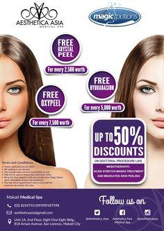 Aesthetica Asia Medical Spa on Behance Beauty Promo Design Promo Medical Spa Asia A4 Flyer Magic Potions Brochure