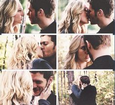 The vampire diaries I love that Caroline brings out the best side of clause, he has a genuine smile when he is with her