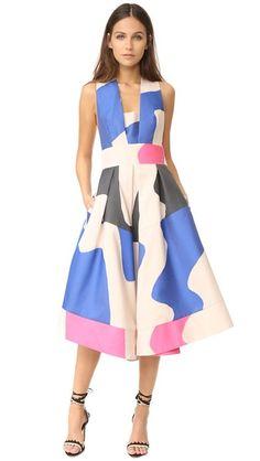 Milly Жаккардовое платье до колен Swirl с перекрещенной спиной