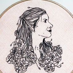 Throwback to the first portrait I ever embroidered for @ameliagalizia  This was her momma on her wedding day and I used an illustration by Amelia's very talented friend as the guide for this needlework. . . . . . . . . . . . . . . . #ABMcrafty #craftspo #craftsposure #cylcollective #flashesofdelight #etsy  #psimadethis #bordado #colorfullycrafted #calledtobecreative #makersvillage #makersmovement #makersgonnamake #hoopart #broderie #pursuepretty #homedecor  #modernmaker #handandhustle…