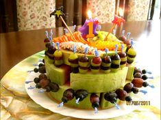 Fruit+Birthday+Cake | Jumana's Version For Birthday Cakes