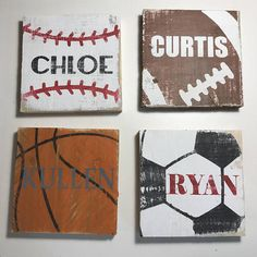 Rustic Pallet Wall Art Personalized Sports Sign Wood Wall