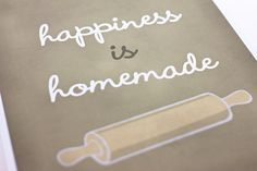 Happiness is Homemade Art Print / Inspirational by jennasuedesign, $18.00