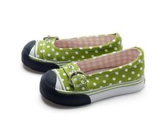 Morgan and Milo.  Red, Green, Blue polka dot fabric for homemade shoes.  Super cute!