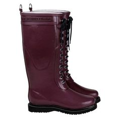 Burgundy Rain Boots :)