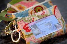 Passo a passo e moldes de carteiras de tecido