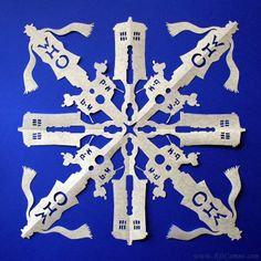 Amazingly Detailed Paper Snowflakes Themed Like 'Doctor Who,' 'Star Wars,' and More \\ OH THIS. This is happening.
