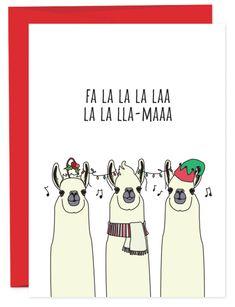 Ideas Funny Christmas Presents Ideas Funny Christmas Presents, Homemade Christmas Cards, Diy Christmas Gifts, Holiday Gifts, Funny Holiday Cards, Holiday Puns, Llama Christmas, Christmas Art, Christmas Humor
