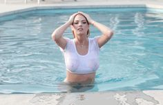 Kate Upton. - pool gif