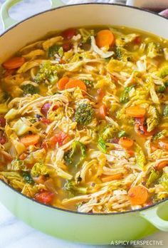 Southwest Chicken Detox Soup - #Chicken, #Lunch, #Recipes, #Soup
