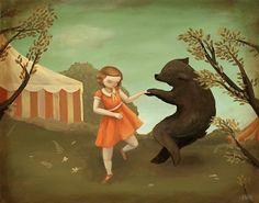 Bear Dance impression 14 x 11 par theblackapple sur Etsy