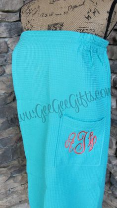 Monogrammed Personalized Spa Wrap - anchor or just initials