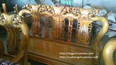 bộ ghế lim chương đào tay 10 - đồ gỗ chuyền lộc