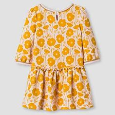 Toddler Girls' French Terry Floral Print Dress Pink Floral Print - Genuine Kids from Oshkosh™ : Target