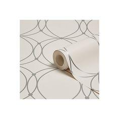 Graham & Brown Darcy Pearl & Silver Circles Wallpaper | Departments | DIY at B&Q