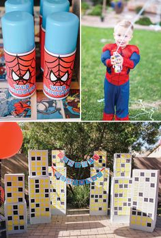 The Amazing Spiderman Birthday Party - love the silly string web shooter