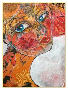 Great tips (13!!) on adding texture and depth to your collages -art faces by jane davenport