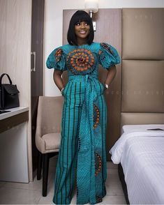Premium Pants, African Print Wide Leg Pants, It's no best accept to be characterless back it comes t African Attire, African Wear, African Women, African Dress, African Style, Latest African Fashion Dresses, African Inspired Fashion, African Print Fashion, African Print Jumpsuit