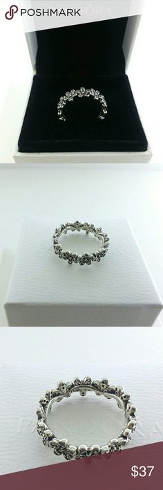 Pandora Silver Dazzling Daisy Meadow Ring # 6 , 7 Pandora Silver Dazzling Daisy Meadow Ring # 190934CZ - 6 , 7    Sterling silver  New and never used  % 100 authentic  S925/ale hallmark stamps on it  Official Pandora black velvet box with purchase  If you interested in another item on my list please ask me, I do combine     Enjoy shopping Jewelry Rings