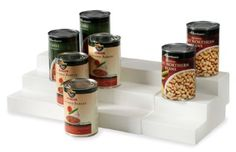Organizing your canned goods becomes so much simpler - and nicer! - with the help of Expand-A-Shelp tiered organizer.