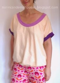 mi rincón de mariposas: Camiseta ancha (mujer) - patrón