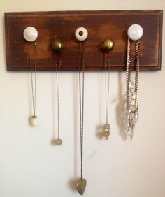 Repurposed Wood Jewelry Hanger by ArrowoodBoutique on Etsy