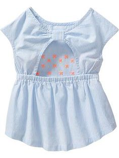 Embroidered Striped Tops for Baby | Old Navy 12-18mo