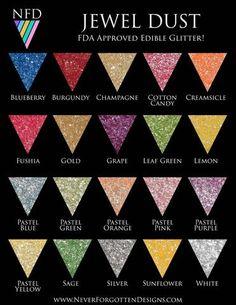 100% FDA Approved Edible Jewel Glitter Dust