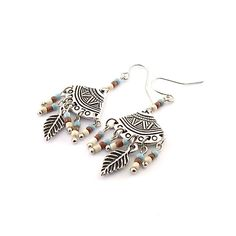 Southwestern Silver Fan Earrings by CinLynnBoutique on Etsy, $18.00