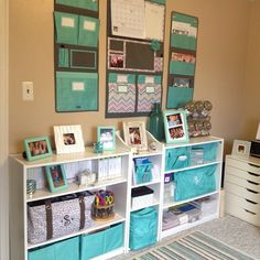 Love how organized this home office is!
