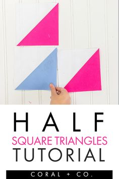 This outrageously easy half square triangle tutorial will blow your mind with how simple it is!  You won't believe how fast you can make this beginner quilt block and will be NEEDING to make more.  Click the link to see how easy it is!