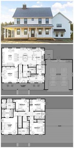 37 Architectural Designs Modern Farmhouse Plan – Farmhouse Room - House Plans, Home Plan Designs, Floor Plans and Blueprints Modern Farmhouse Plans, Farmhouse Style, Farmhouse Layout, Farmhouse House Plans, Farmhouse Ideas, Farmhouse Remodel, Farmhouse Interior, Farmhouse Decor, Colonial House Plans