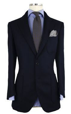 Chaqueta Parche SP 03 1230 Azul marino liso - Americanas - Outlet hombre - Outlet Outlet, Blazers, Suit Jacket, Breast, Suits, Chic, Jackets, Fashion, Menswear