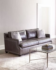 Mirabelle Leather Sofa by Bernhardt at Horchow.