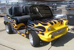 This custom cart's on FIRE. Well, it's HOT enough!