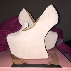 Jeffery Campbell BLYKE Never worn ! Brand new ! Size 7.5 fits like a size 7 ! Nude suede ! Jeffrey Campbell Shoes