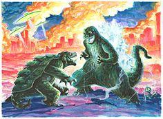 Godzilla vs Gamera by Boatwright