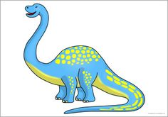 Decoratie: Giant apatosaurus dinosaur picture for display (SB11136) - SparkleBox