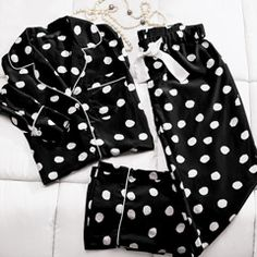 Luxe Dot Silk Pajamas, For Her: Store Name