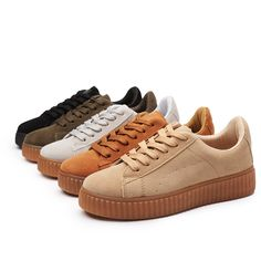 Buy Women's Fashion Casual Shoes Rihanna Suede Creepers Shoes Flats Shoes Lace up Skull Boat Shoes Women Platform Shoes 748 in Flat Shoes on AliExpress. Rihanna Creepers, Suede Creepers, Lace Up Flats, Spring Shoes, Casual Shoes, Women's Casual, Platform Shoes, Womens Flats, Suede Leather