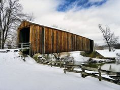 The covered bridge located at Bollinger Mill State Historic Park in Burfordville, MO.  Photo by Aaron Altenthal